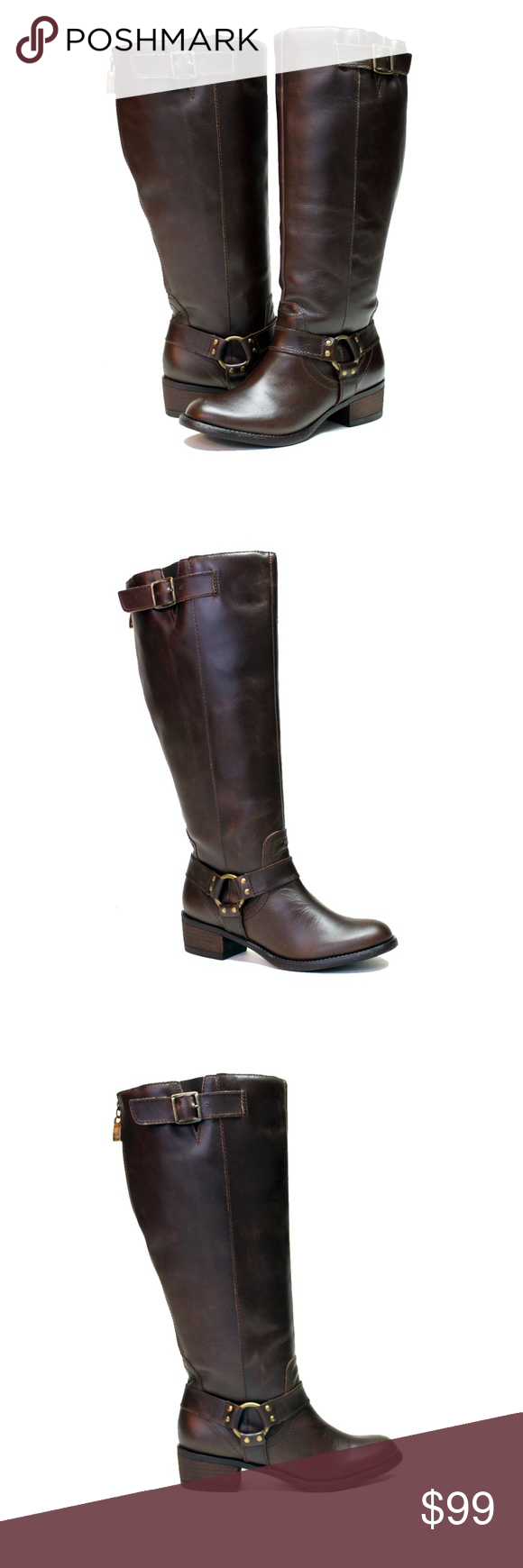 17bd9d27f8a Cocoa Leather Extra Wide Calf Riding Boot NWT VERY COOL BOOT! REDUCED!!  Vestiture
