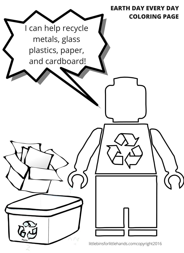 LEGO Earth Science Coloring Pages Earth Day Activities | STEM ...