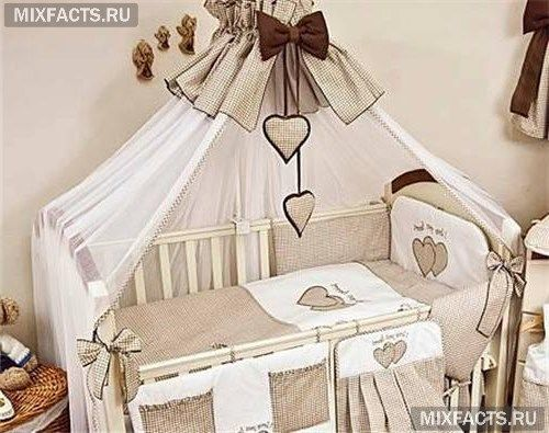 детская кроватка с балдахином фото