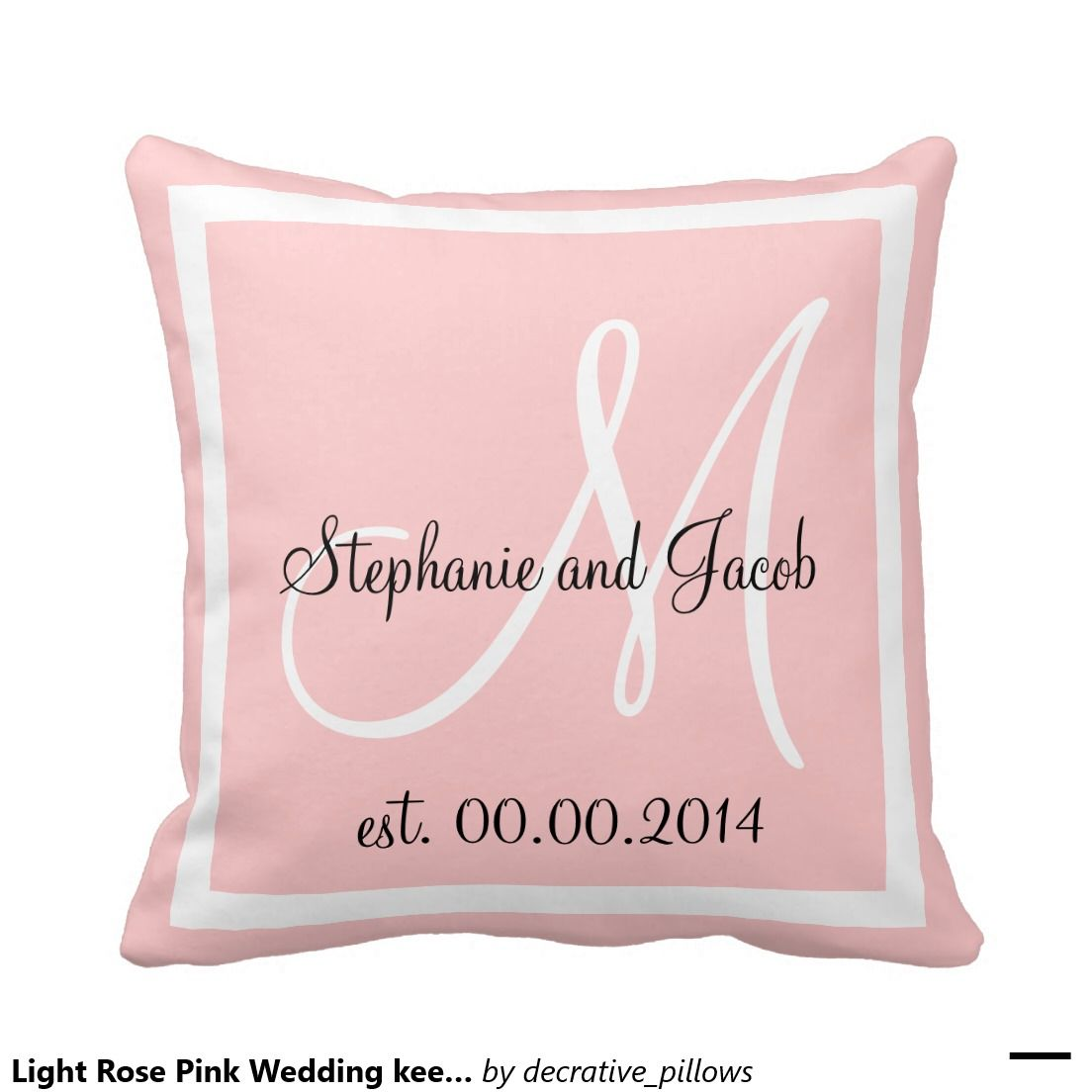 Light Rose Pink Wedding keepsake pillow | Ring Bearer : Pillows ...