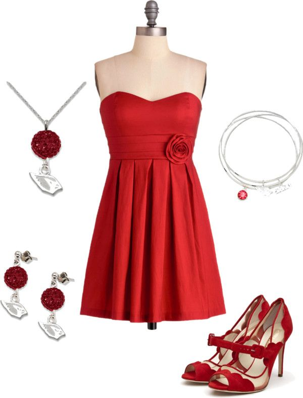 Arizona Cardinals Cardinal Red Inspired Outfits The Little Dress By Azcardinals On Polyvore