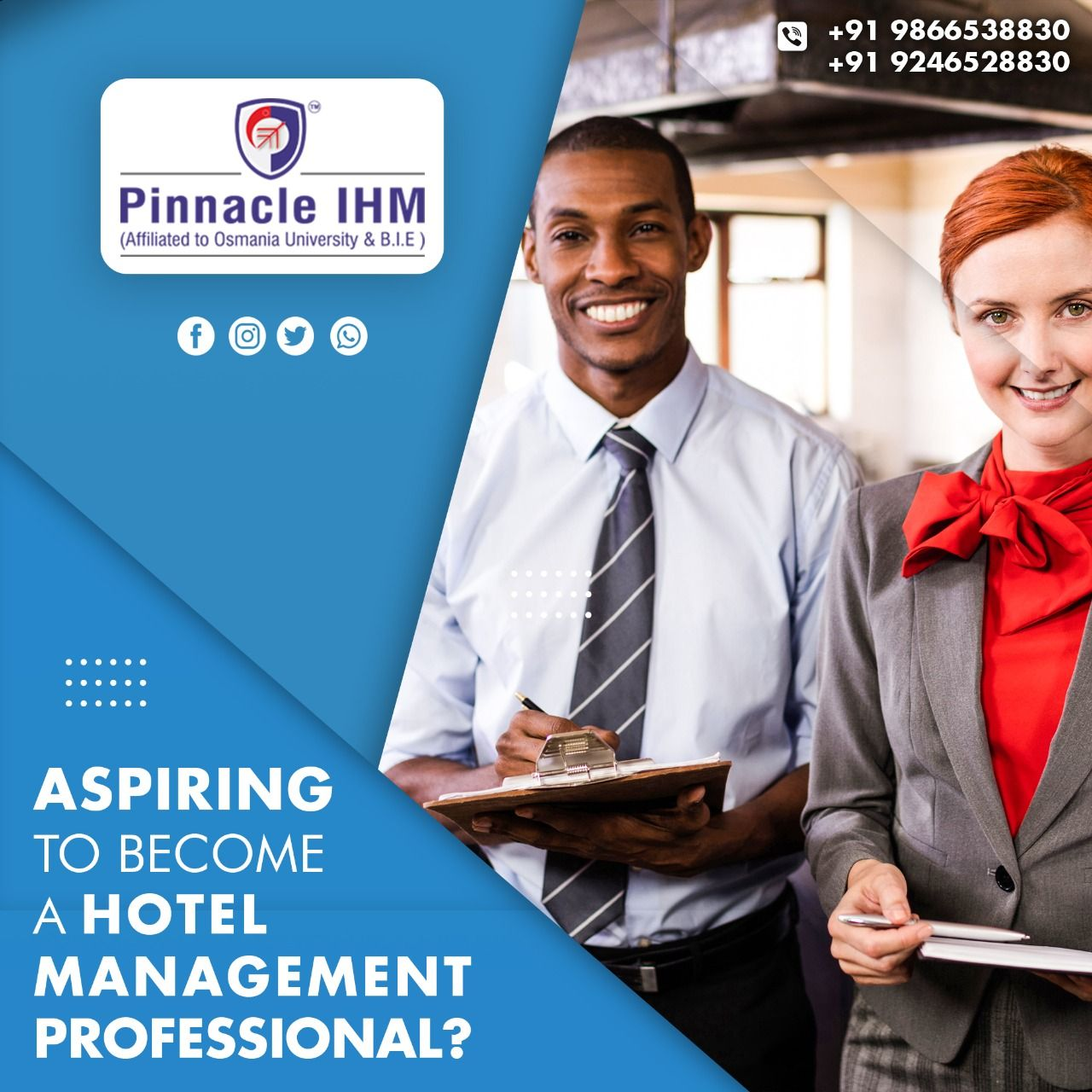 Enrol in Pinnacle IHM hotel management course and see