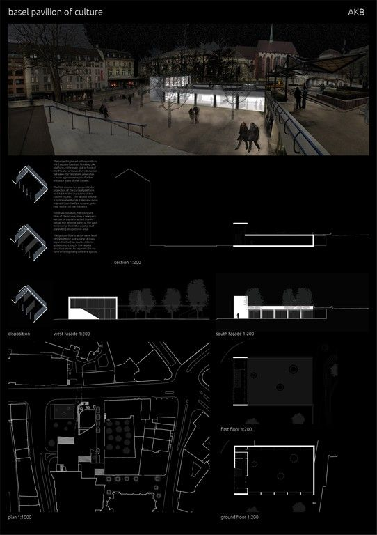 Projects presented to the Basel Pavilion of Culture International Architecture Competition for Students and Young Graduates Organized by ARCHmedium