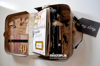 A suitcase mini album full of love / Maleta mini álbum  ©MI♥SCRAP♥LAB