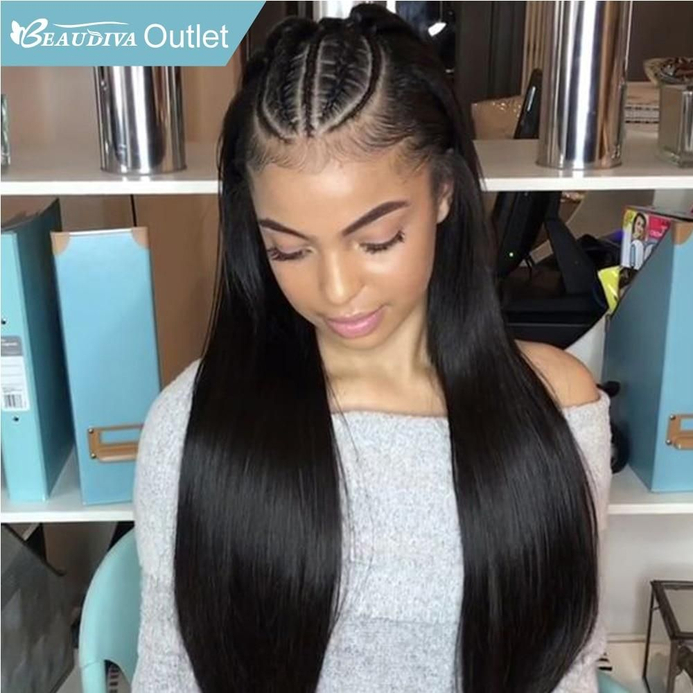 Lace Front Straight Hair Wig Pre Plucked Hairline With