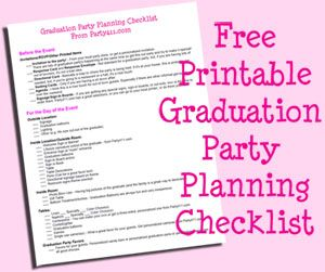 Graduation Party Planning Checklist Graduation Party Planning