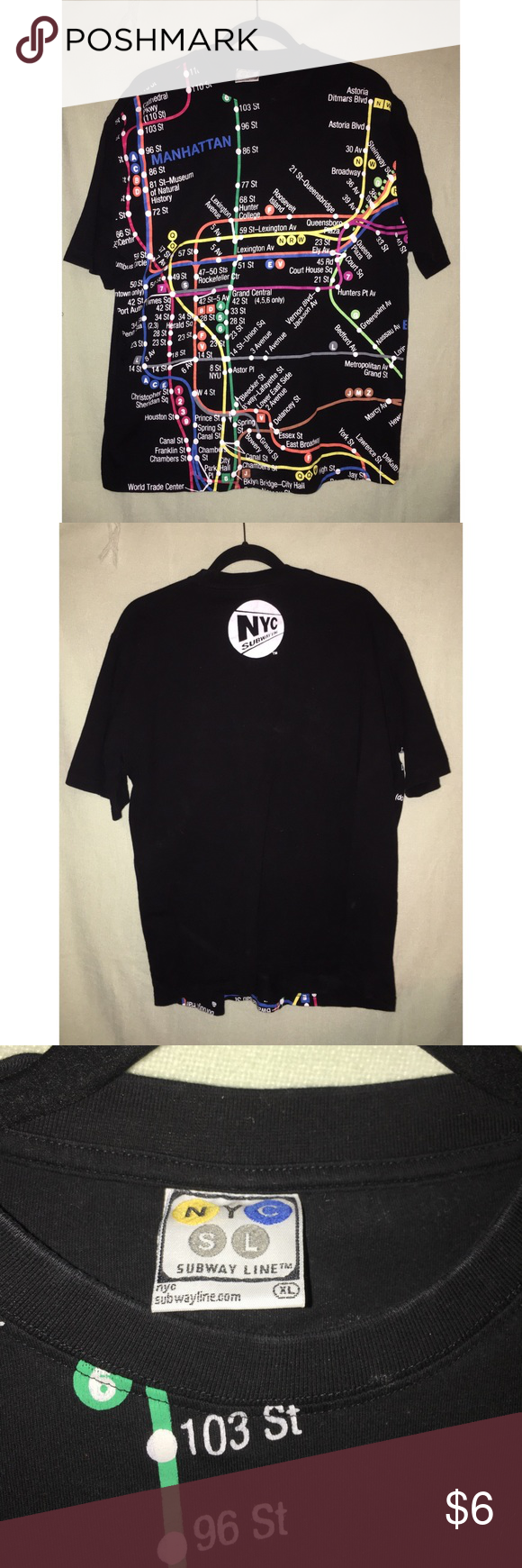 New York Subway Map Jumpers.Men S Xl Nyc Subway Graphic T Shirt Men S Xl New York Subway Map