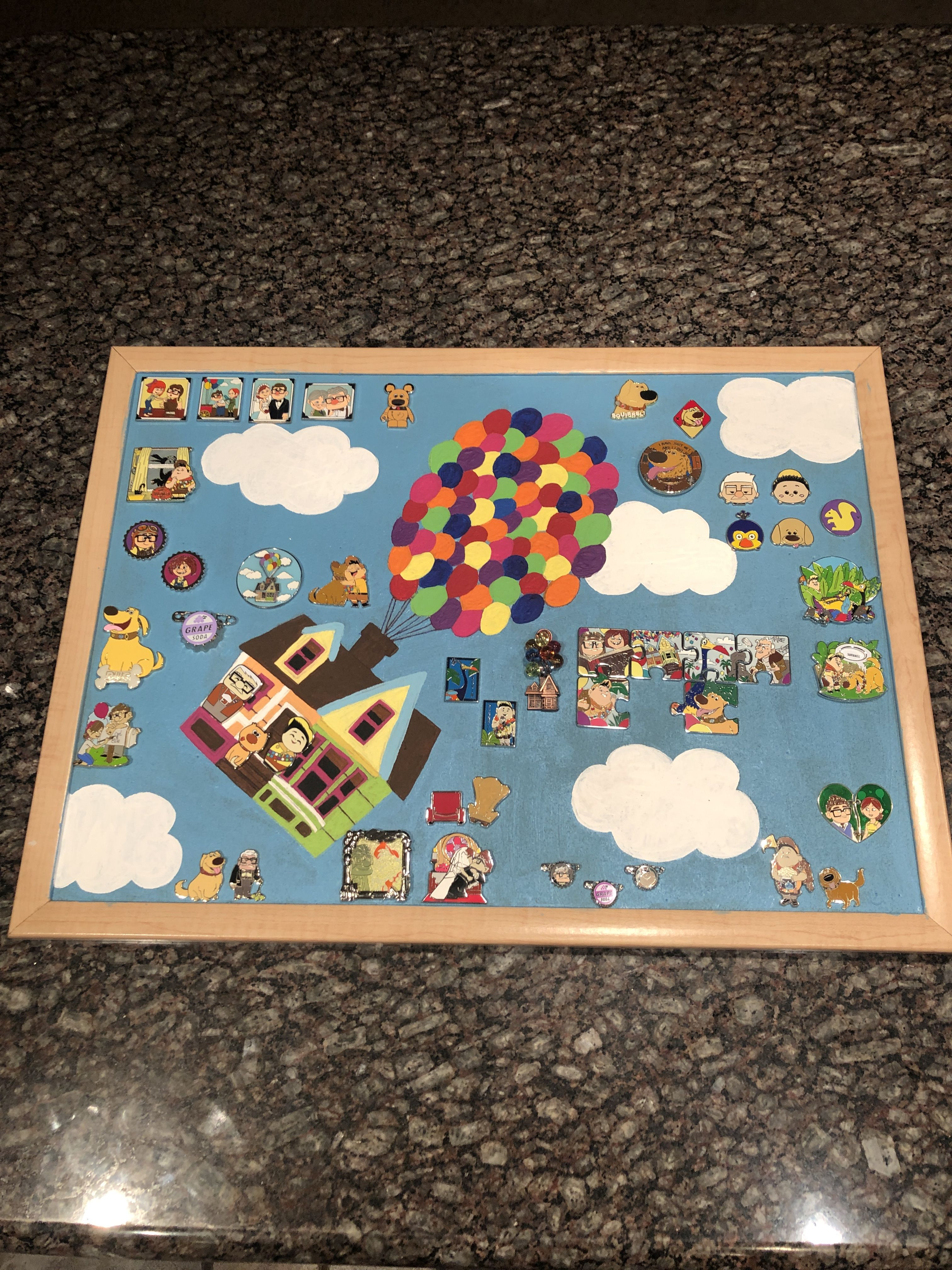 Inspired by Up movie Disney Pin Board
