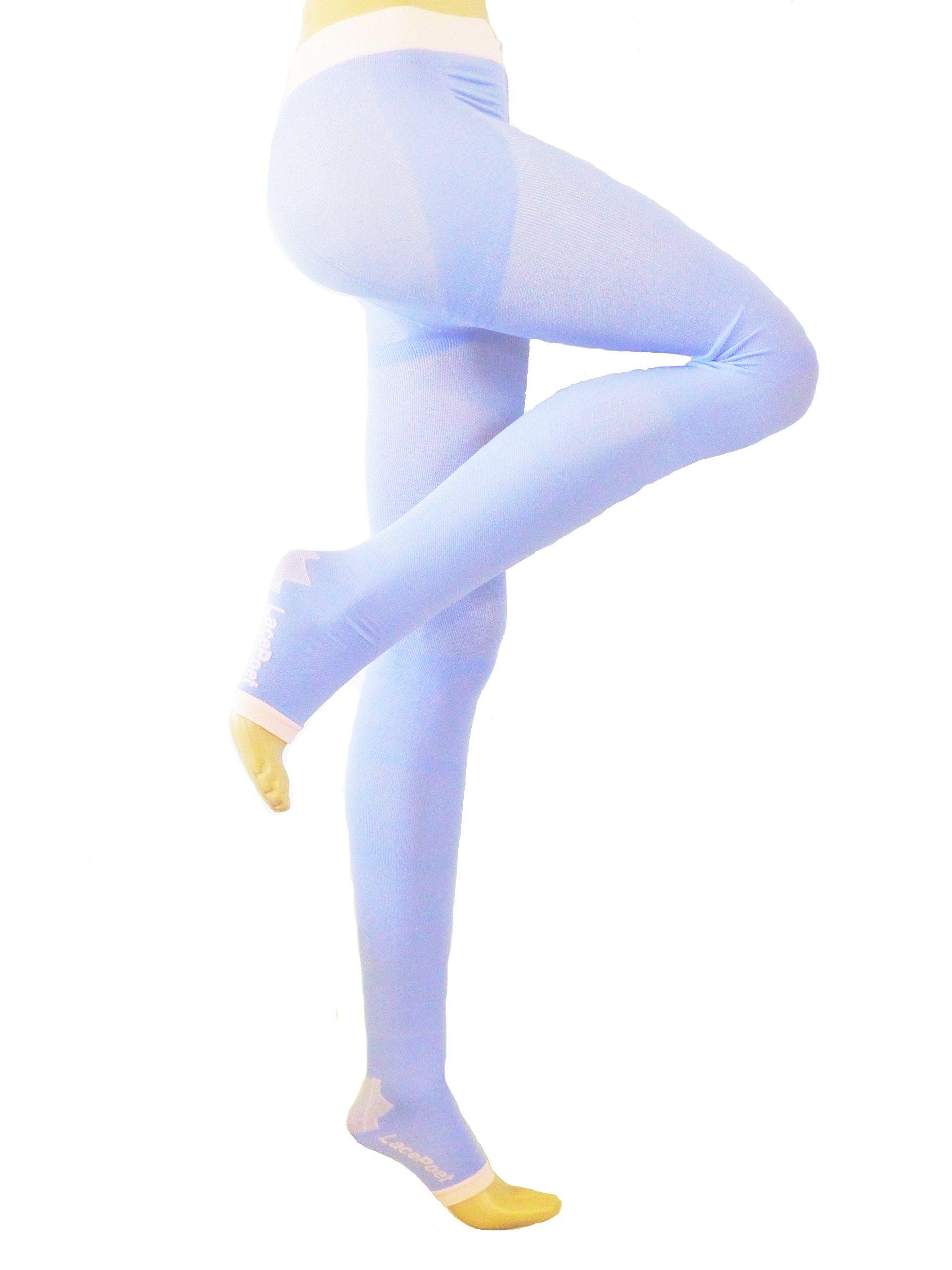 992695785 Lace Poet Purple Yoga/Sleep Thigh-High Compression Toeless Socks:Amazon:Industrial  & Scientific