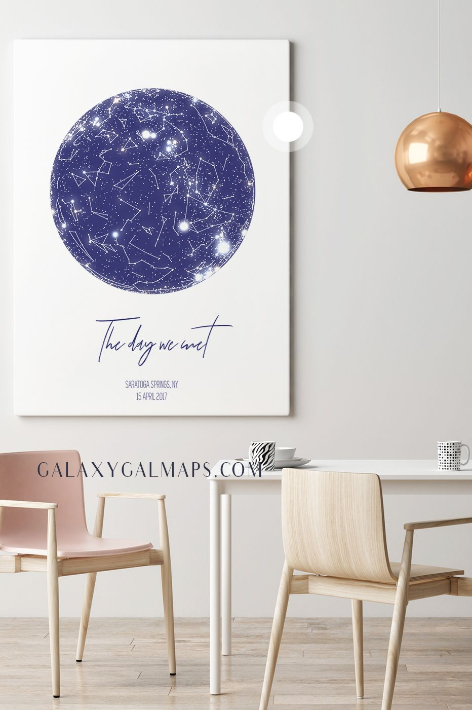 Custom Star Map Anniversary Gift For Woman, Hello, Will