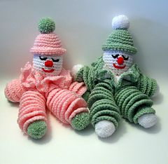 Ravelry: Clownie the Crocheted Clown Doll pattern by Phyllis Serbes