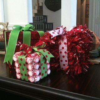 Repurposed Kleenex Boxes Christmas Centerpieces Christmas Diy Christmas Decorations