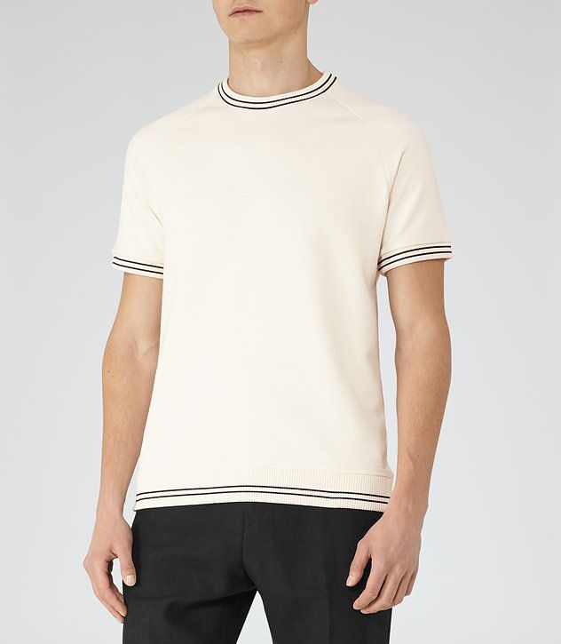 REISS - HOMAGE PIPED COTTON T-SHIRT