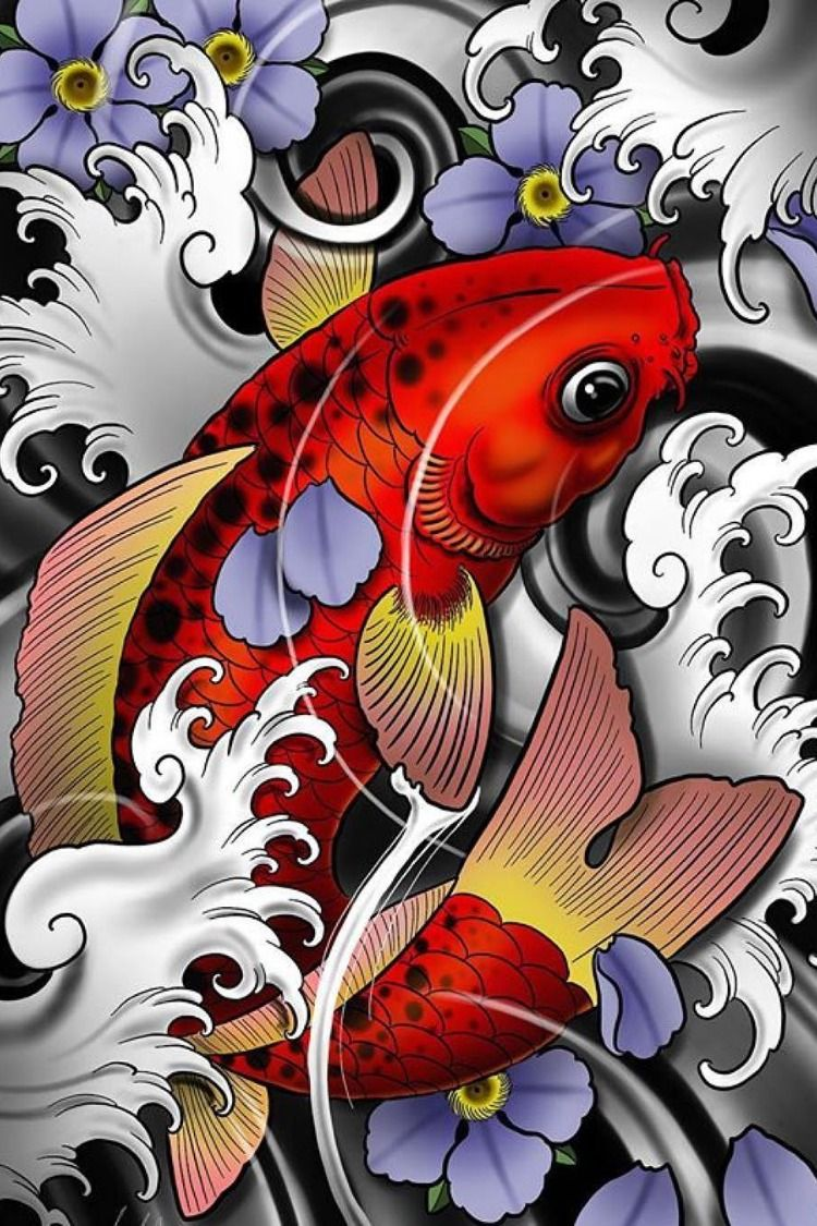 Color Sketches For Tattoo Tattoos Japanese Koi Fish Tattoo Koi