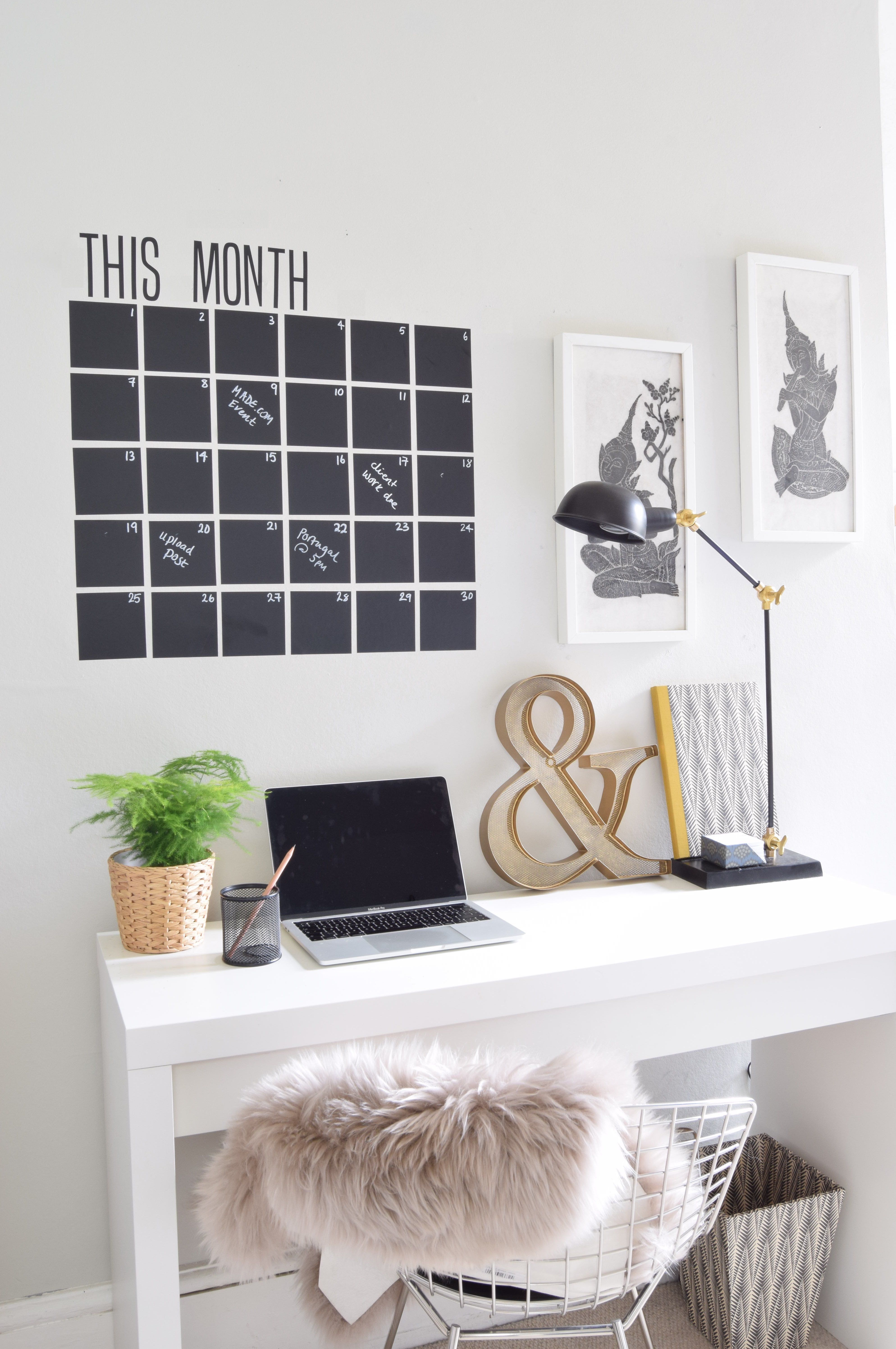 DIY Desk Decor Organise your desk space and with a vinyl wall ...