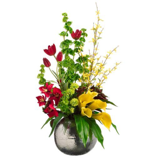Daffodil tulip bells of ireland arrangements 34 tulip calla lily home decor at kohls shop our full selection of home decor including this allstate floral artificial tulip calla lily and bells of ireland floral mightylinksfo