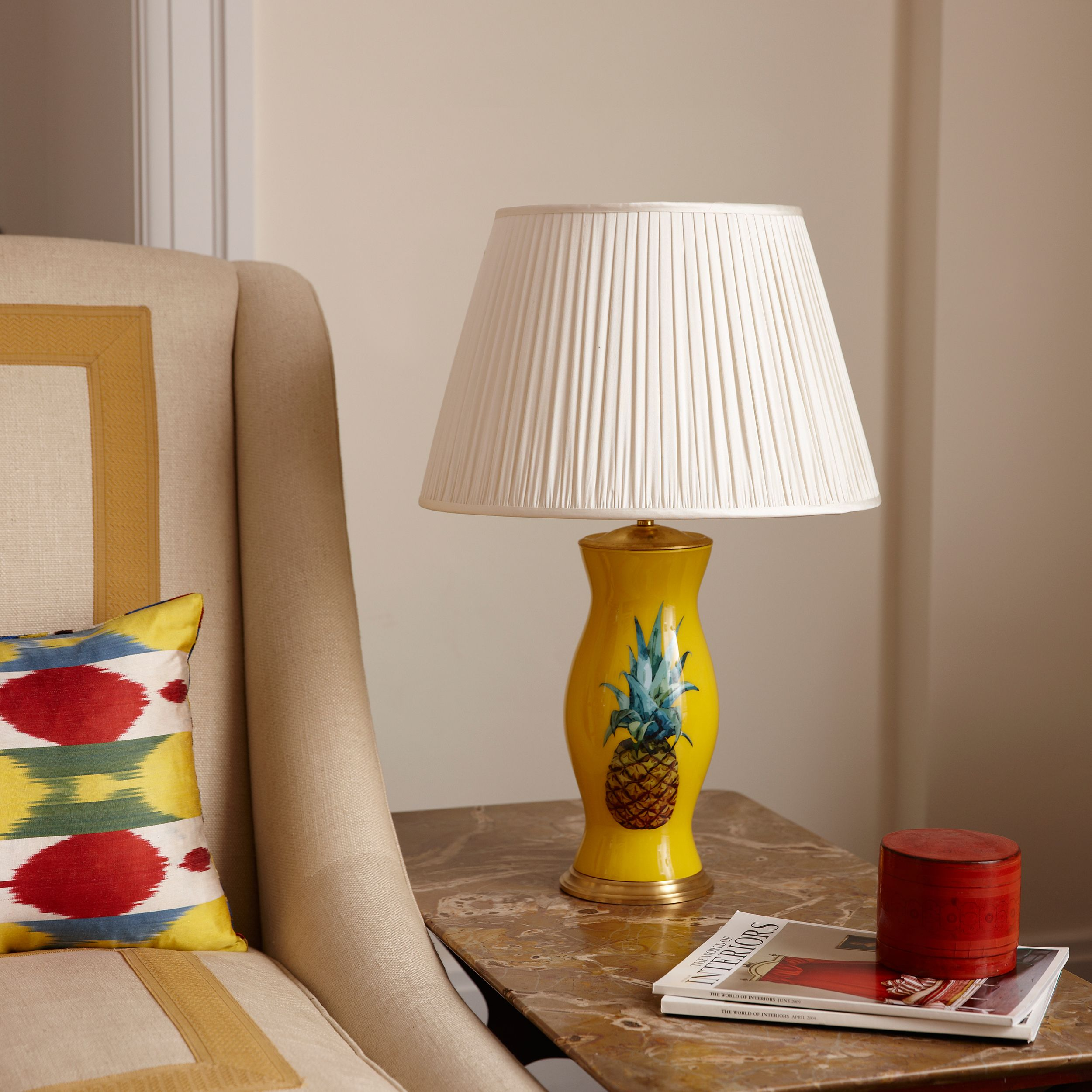 The pineapple is a symbol of welcome and friendship adding a the pineapple is a symbol of welcome and friendship adding a fresh pop of colour to your room the sunny yellow reflects warmth and will certainly be a biocorpaavc Gallery