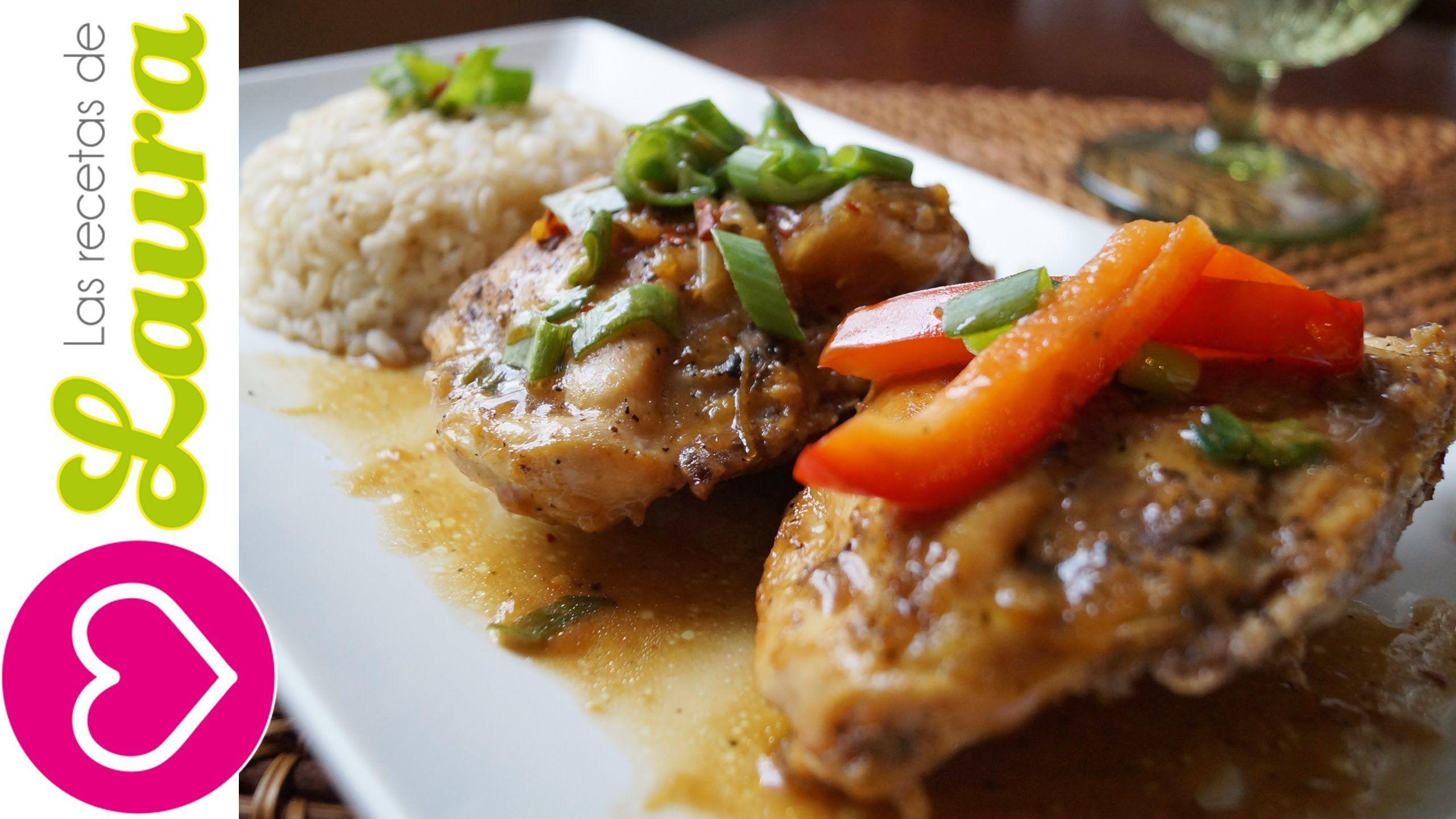 Pollo A La Naranja Estilo Chino Sin Fre R Comida Saludable  ~ Recetas Faciles Y Bajas En Calorias