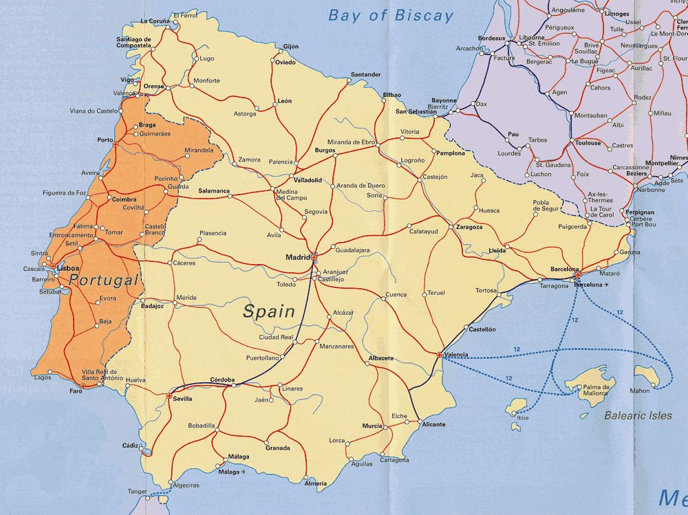 Portugal And Spain Google Search Portugal Map Map Of Spain