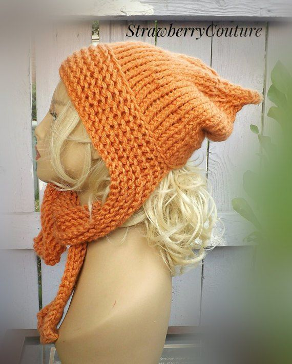Hooded Knitted Scarf Pattern Knitting Pattern Knit Scarf Pattern