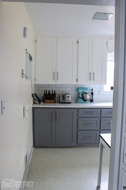 Update Cabinet Doors To Shaker Style For Cheap Subway Tiles Diy