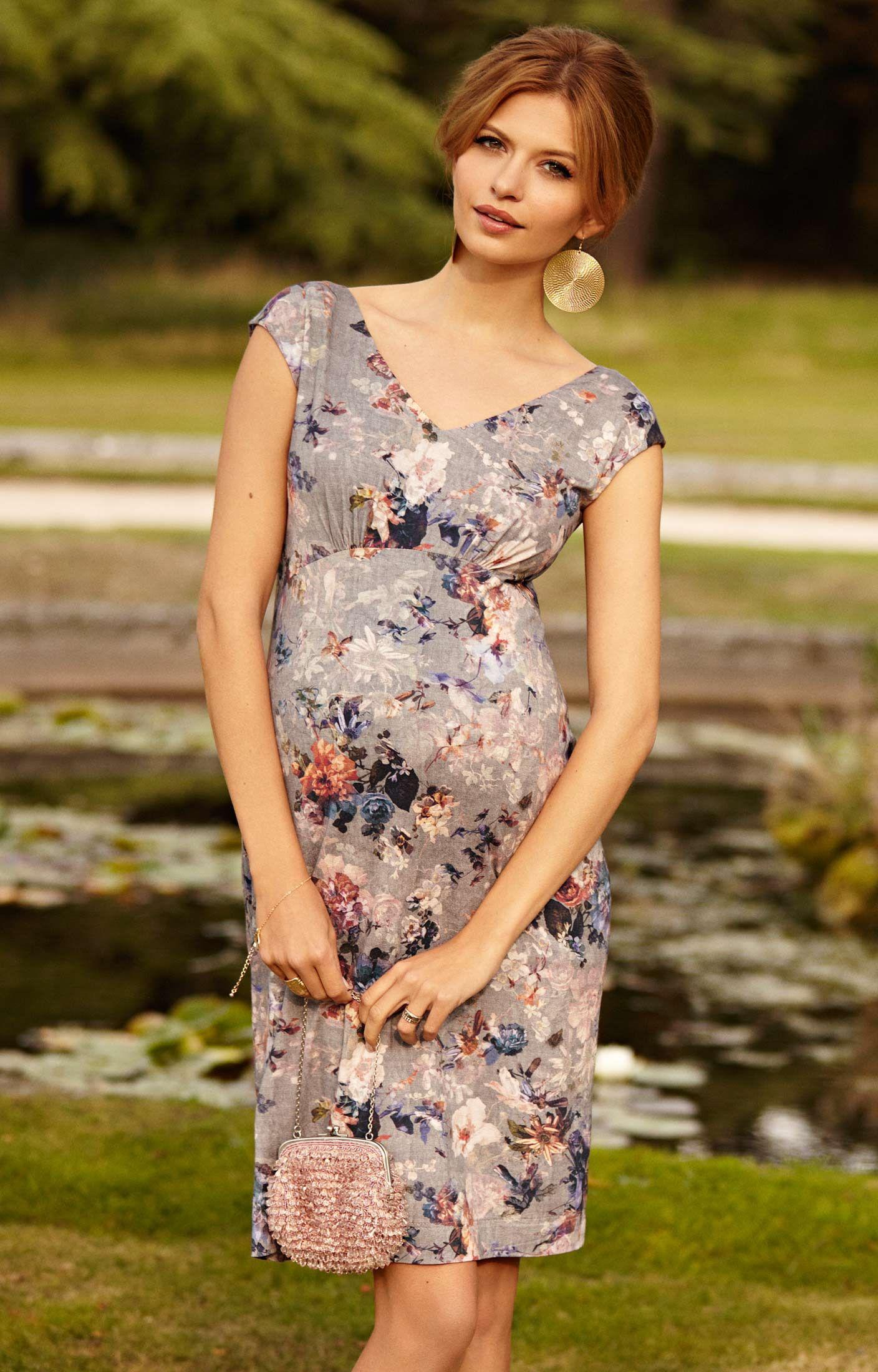 3f61a46d5d81 Dahlia Maternity Shift Dress Vintage Bloom by Tiffany Rose