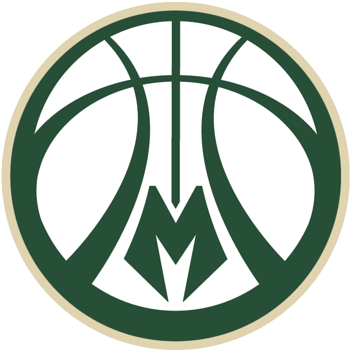 Milwaukee Bucks Alternate Logo (2016) - Green and cream ...