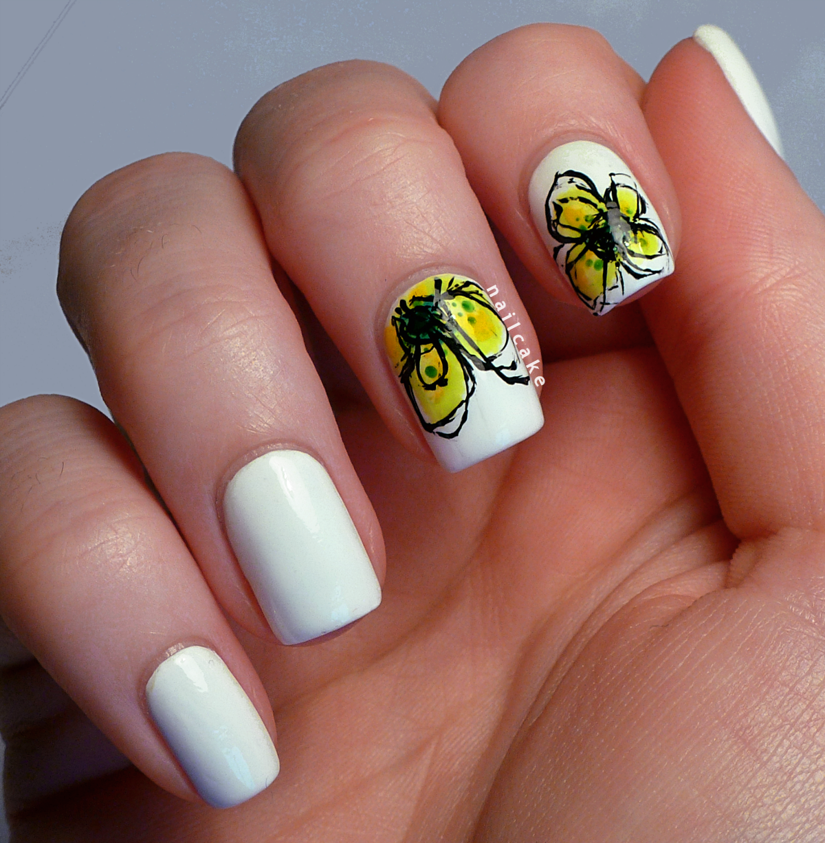nail art   Hello! Rocking some \'art-inspired\' nail art right now ...