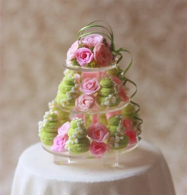 The Mini Food Blog. Macaron tower, cute ideas