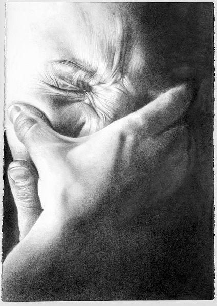 Von trauriger Aktualität / Sadly topical / D'une triste actualité  Philippe Huart, Affliction VI (Kummer, Bedrängnis VI) 2015, Graphit auf Papier / Graphite on paper, 92 x 66 cm