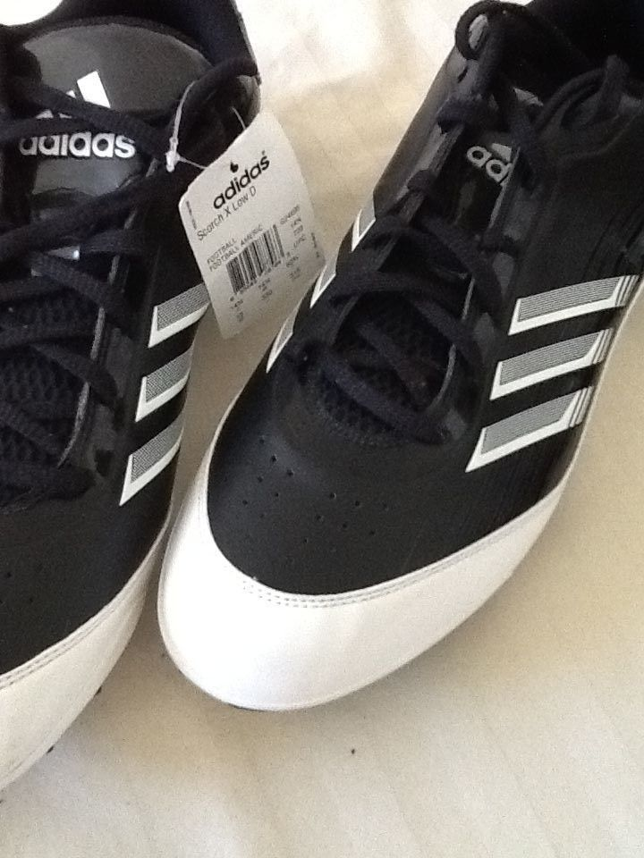 New mens adidas scorch x low d black white football