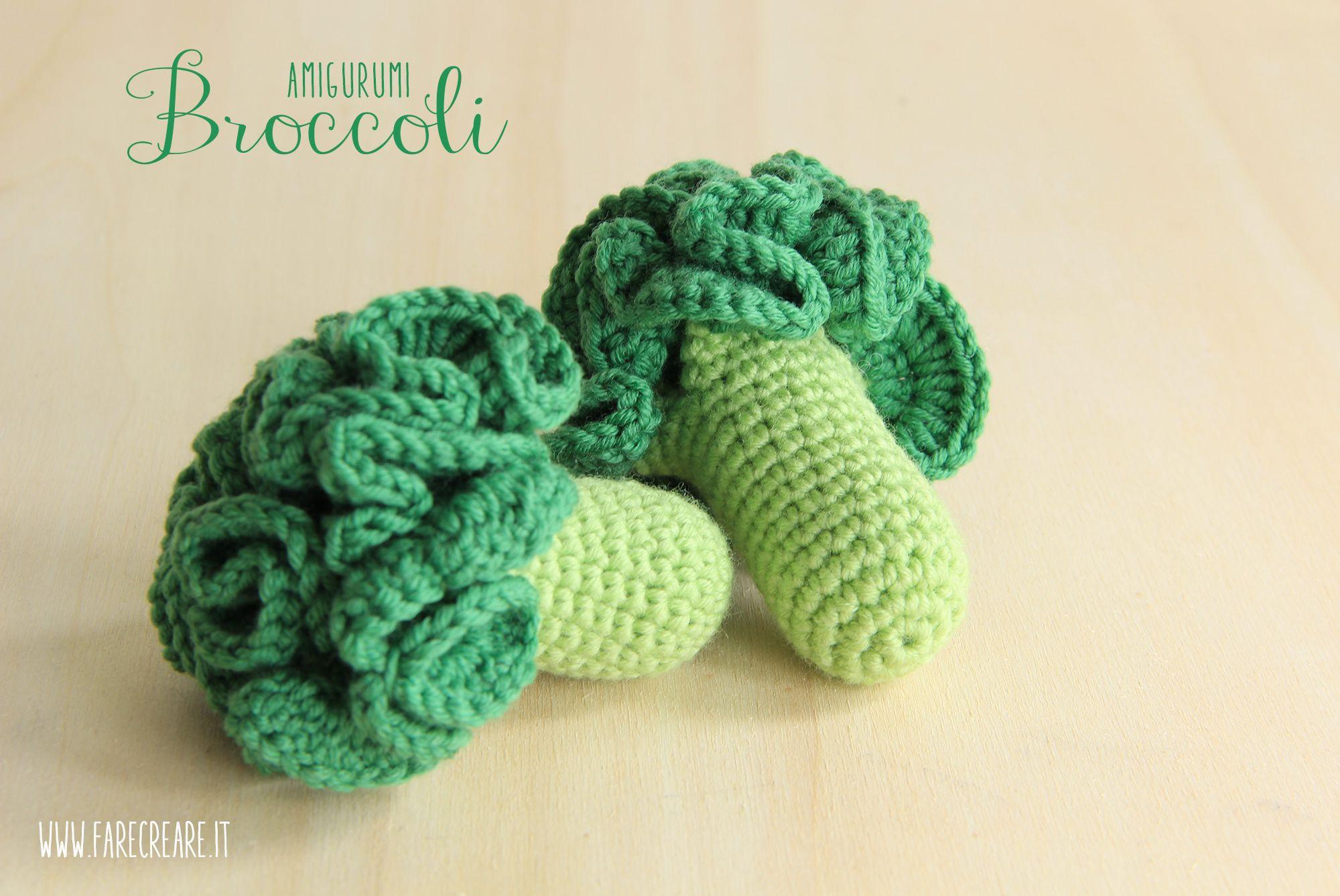 Verdure #amigurumi i broccoli a #uncinetto | DIY Geschenke ...