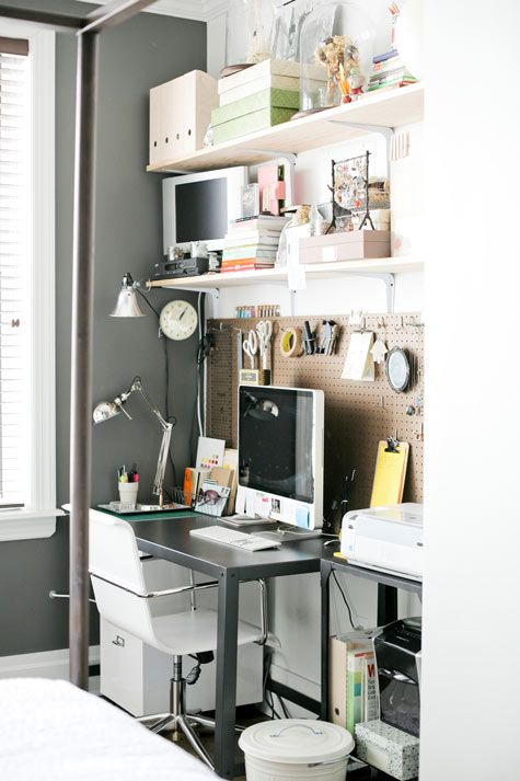 Merveilleux Office Pegboard Wall   Love, Love, Love This Idea For Office Closet Area.  Would Brighten Up The Space (if Board Painted And Allow Us To Hang Up  Important ...
