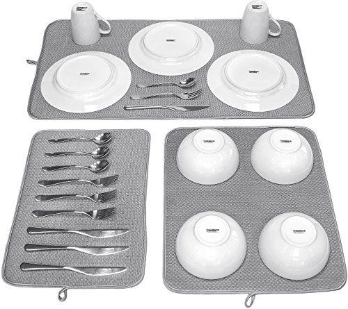 Sorbus Microfiber Dish Drying Mat Set 3 Piece Reversible Https Smile Amazon Com Dp B01n4r2n5t Ref Cm Sw R Pi Dp X Large Mats Dish Drying Mat Microfiber