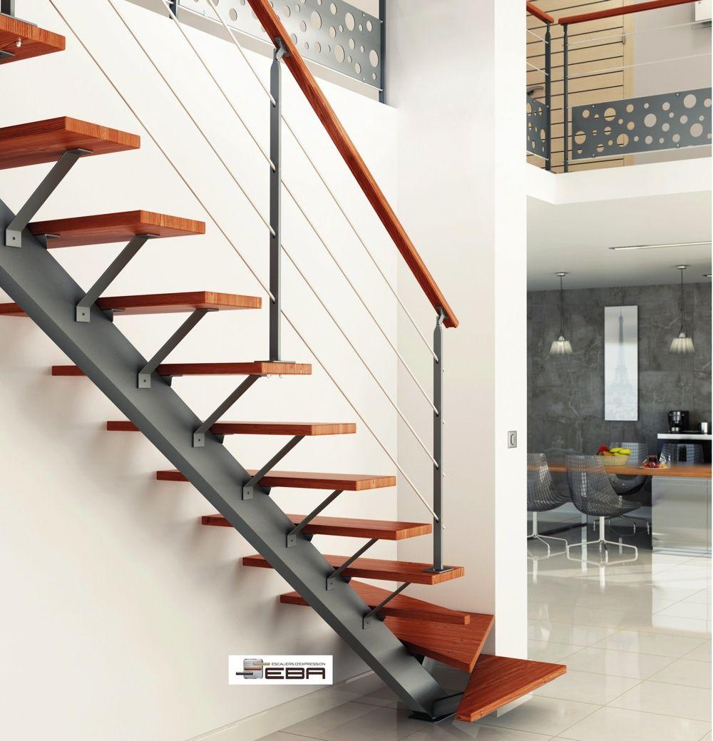 r sultat de recherche d 39 images pour escalier limon central acier living modern pinterest. Black Bedroom Furniture Sets. Home Design Ideas
