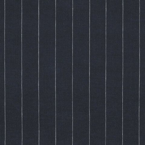 Walker Pinstripe Navy Ticking Library Fabric