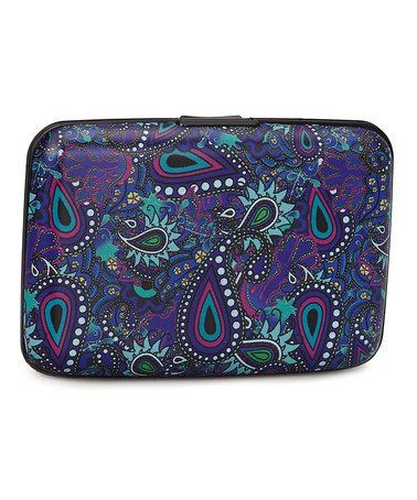 Another great find on #zulily! Blue & Purple Paisley Armored Wallet by Fig Design Group #zulilyfinds
