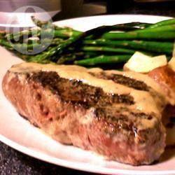 Fillet steak with peppercorn sauce @ allrecipes.co.uk