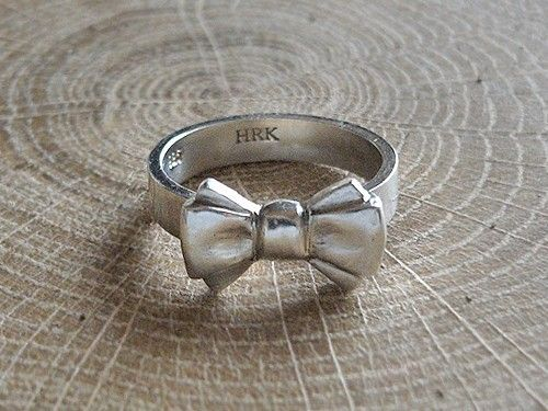 Hand crafted sterling silver bow ring