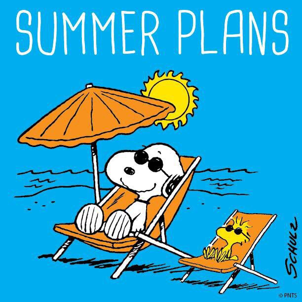 SNOOPY & WOODSTOCK SUMMER PLANS Snoopy and woodstock