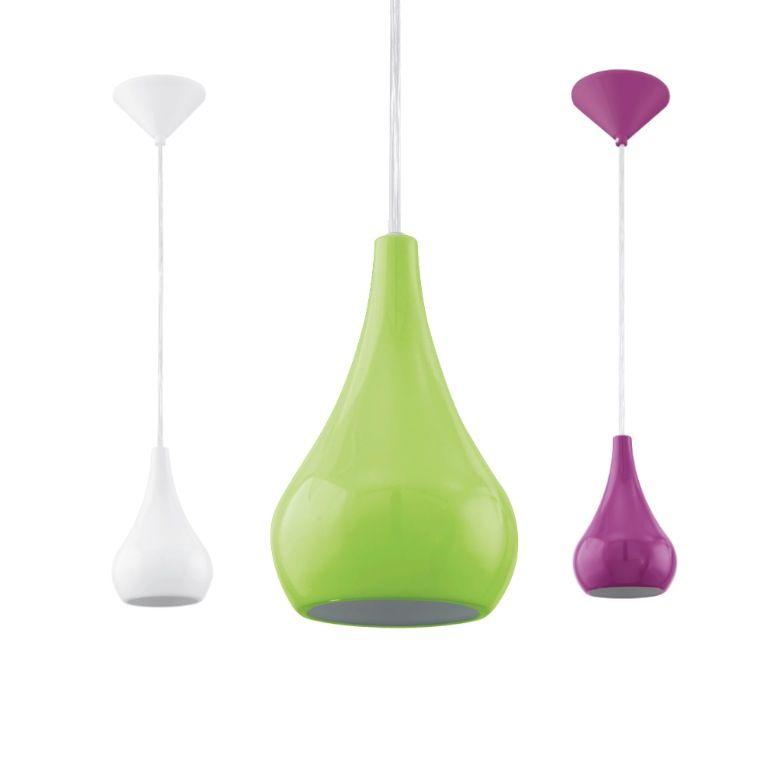 Nibbia Single Pendant Light Purple, Green or White Eglo, $49.95 ...