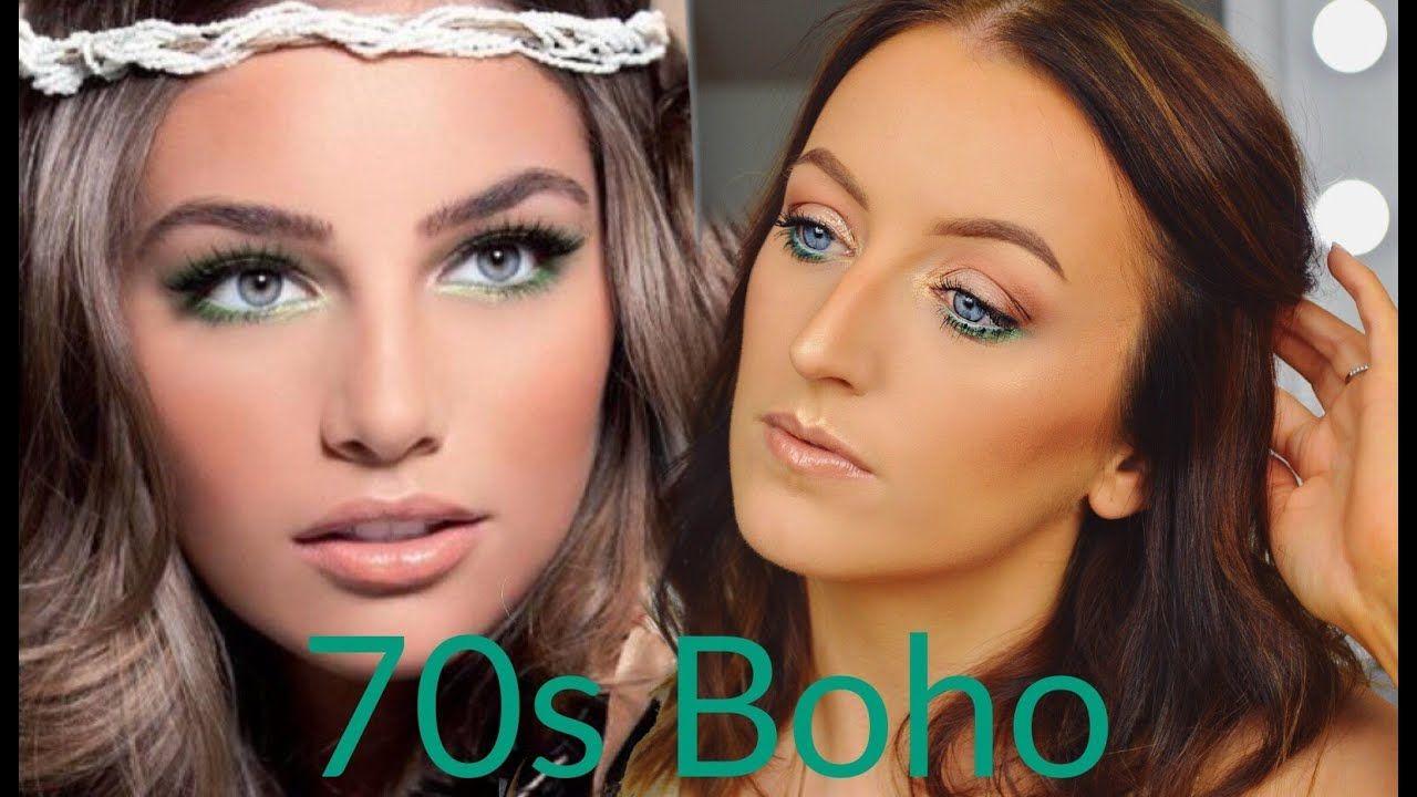 70s Boho Inspired Makeup Tutorial Youtube Makeup Looks Hippie