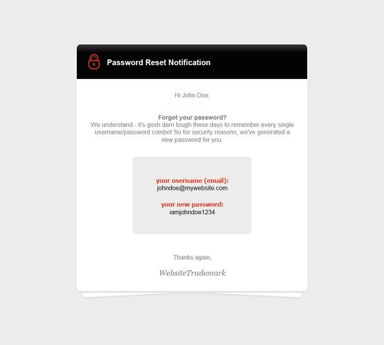 Password Notifier     stamplia html-email-template - confirmation email template