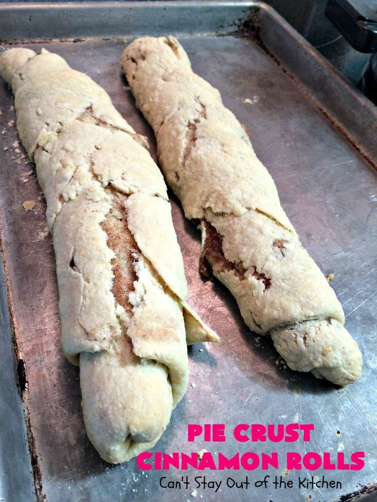 Pie Crust Cinnamon Rolls #strawberrycinnamonrolls