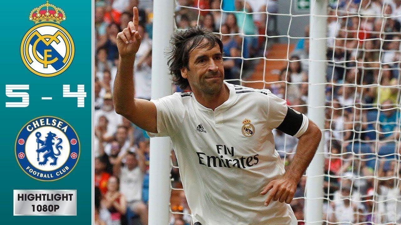 Real Madrid Legends vs Chelsea Legends 5 4 Highlights
