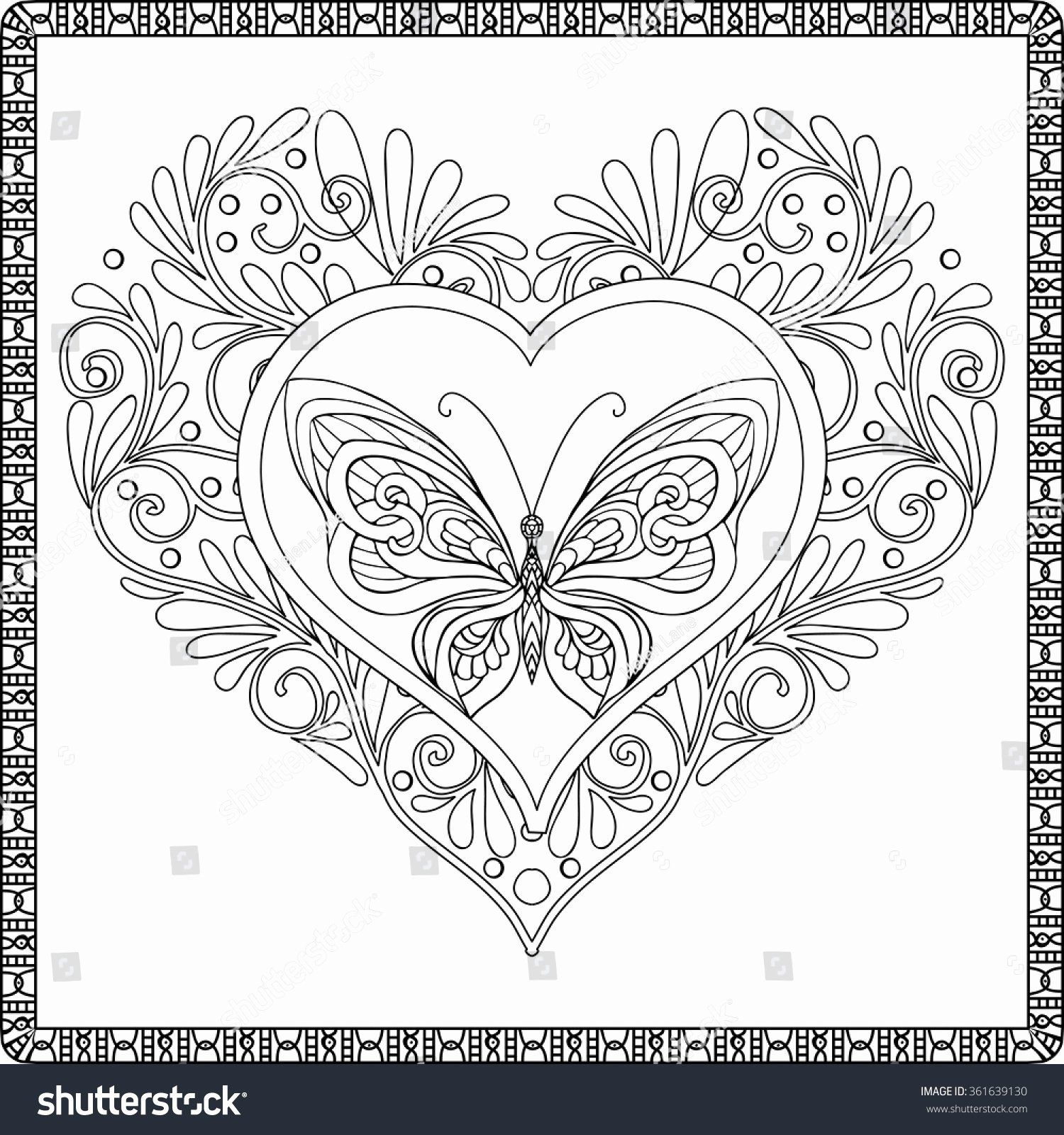 52 Hearts Outline Clip Art Hand Drawn Romance Vector