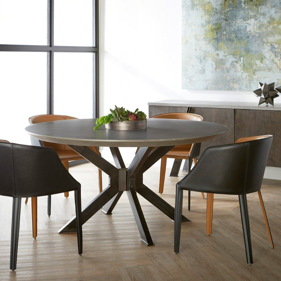 Contemporary Style Dining Chair Featuring Saddle Leather