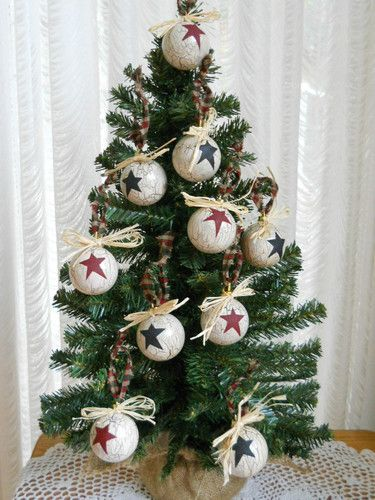 10 Primitive Country Christmas Ornaments eBay Christmas - country christmas decorations
