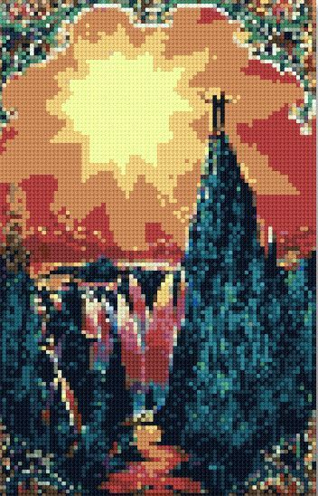 Cross stitch world a poster called The Garden of Eden #DMC ...