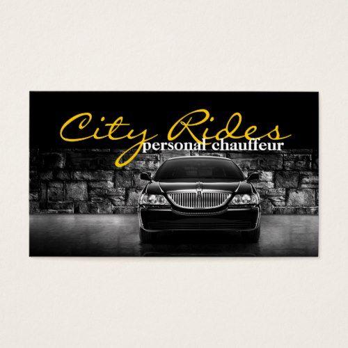 Chauffeur Town Car Driver Transportation Business Business Card Zazzle Com Car And Driver Chauffeur Business Card Design
